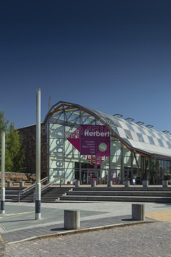 Coventry, Warwickshire, il Regno Unito, il 27 giugno 2019, Herbert Art Gallery e museo fotografia stock libera da diritti