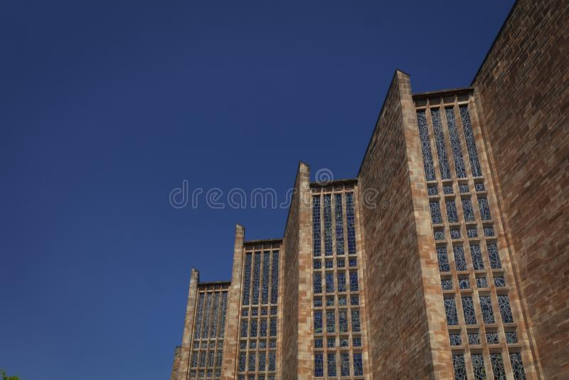 Coventry, Warwickshire, Regno Unito, il 27 giugno 2019, chiesa moderna della cattedrale di St Michael fotografia stock libera da diritti