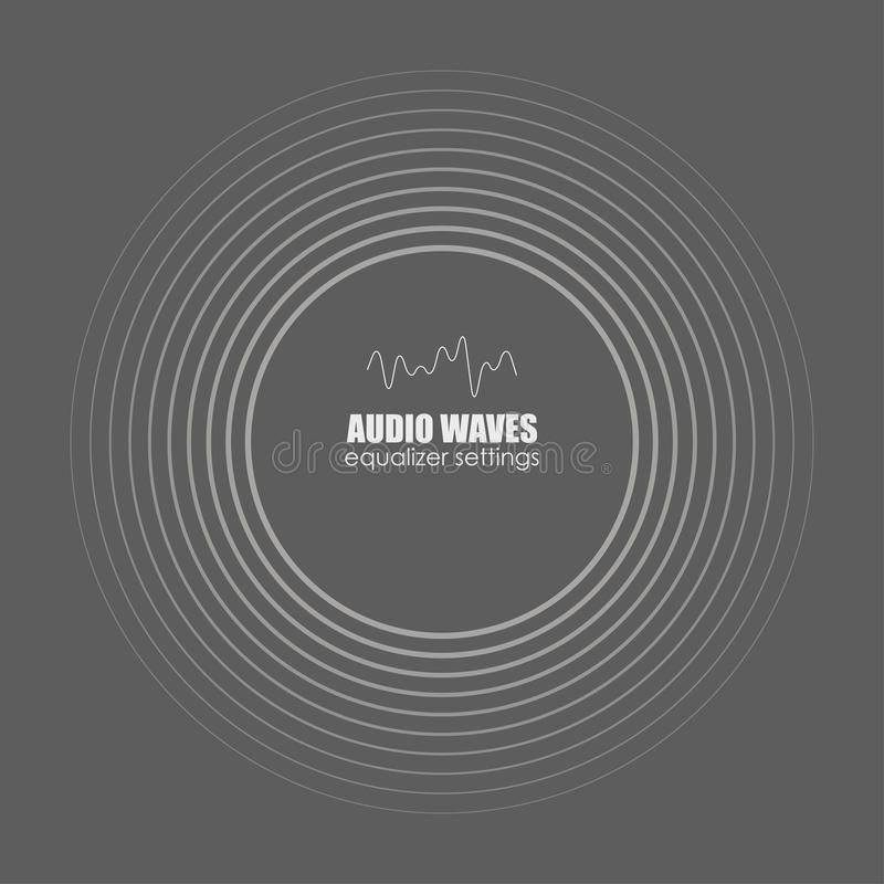 Cover for the album or music track. Sound waves . Audio technology, pulse musical. Vector illustration charts, graphs stock illustration