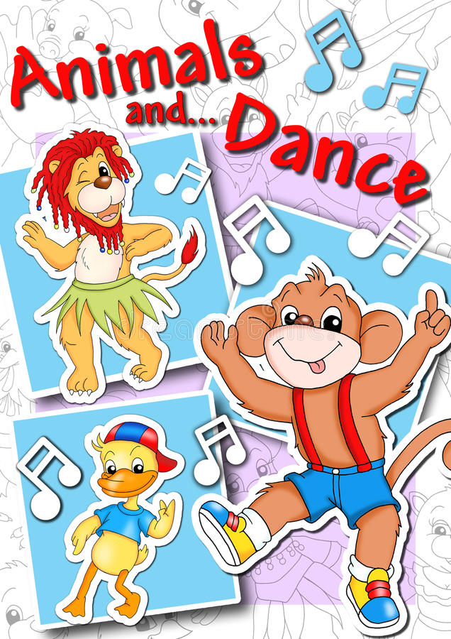 Download Cover - animals and dance stock illustration. Illustration of music - 16335387