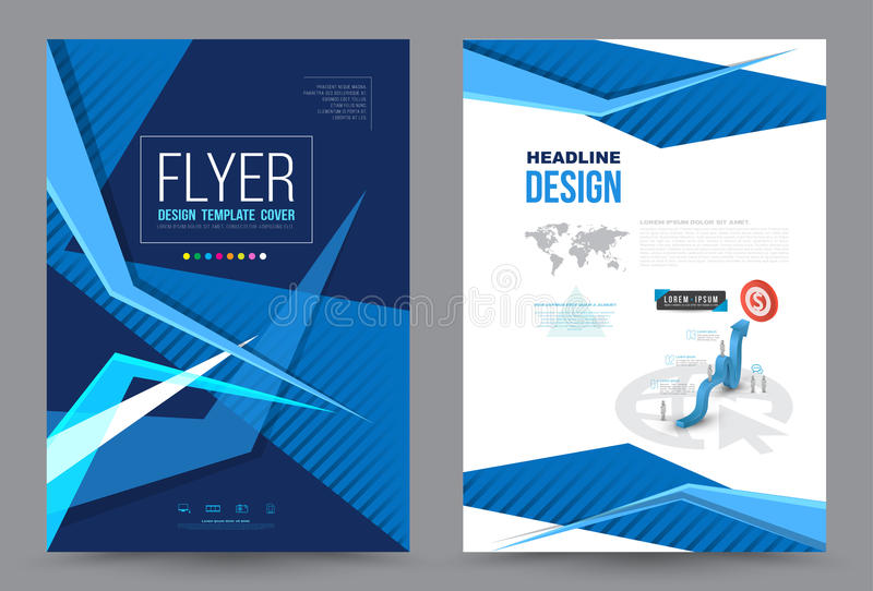 Cover annual report Leaflet Brochure Flyer template A4 size design. Book cover layout design, Abstract presentation templates, Business report template stock illustration