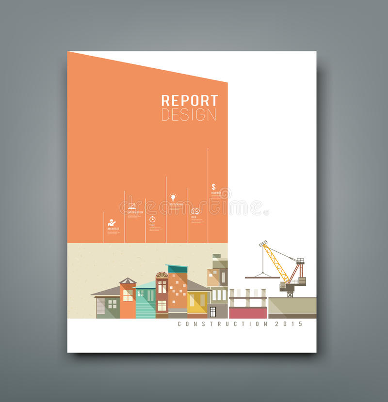 Cover Annual Reports building construction stock illustration