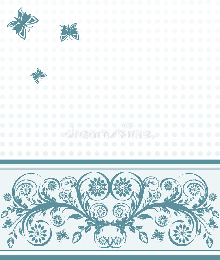 Download Cover Background With Flower Ornament Stock Vector - Illustration: 26912607