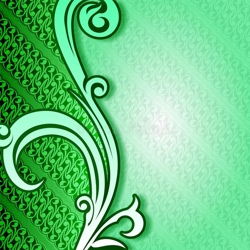 Cover Batik Green Yogyakarta Stock Illustration
