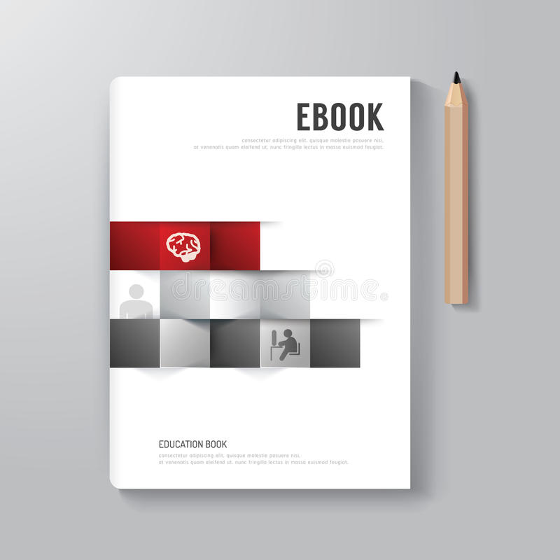 Cover book digital design minimal style template stock for Book cover template illustrator