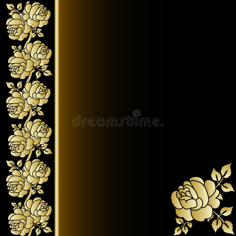 Download Cover Of The Book With Gold Rose Stock Vector - Illustration of nature, jeweller: 19282241