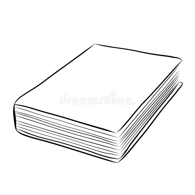 Drawing Book Cover Vector : Cover book hand draw stock vector image of education