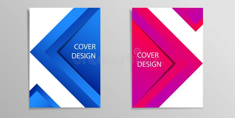 Cover books vector background overlap dimension modern line bar design for text and message vector illustration