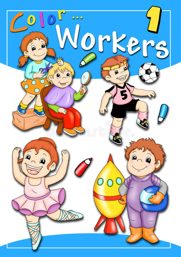 Cover - color workers 1 royalty free illustration