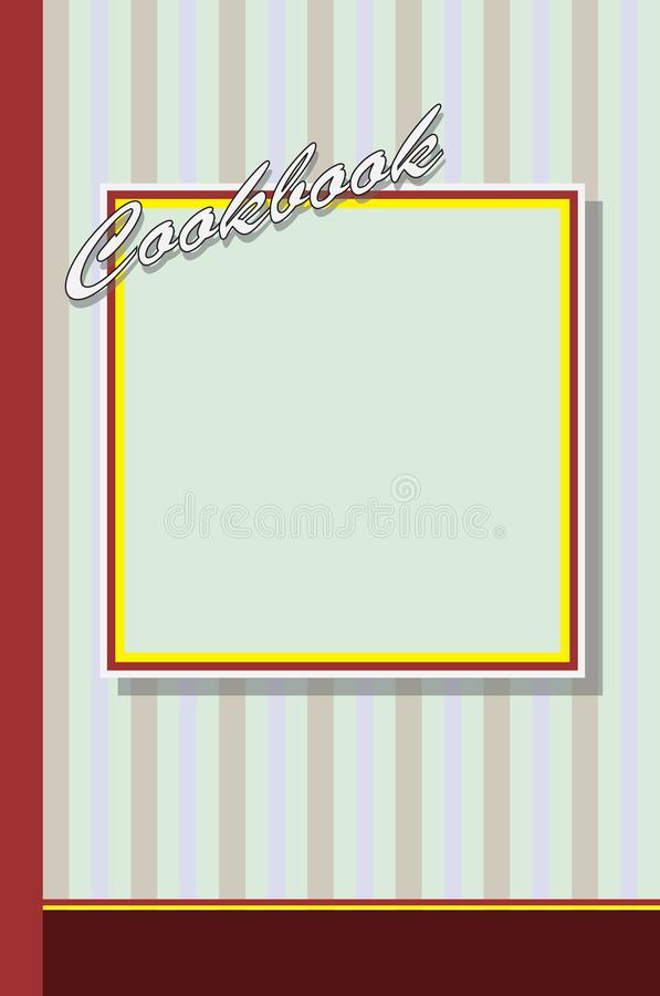 Cover for cookbook. In old style. Vector illustration stock illustration