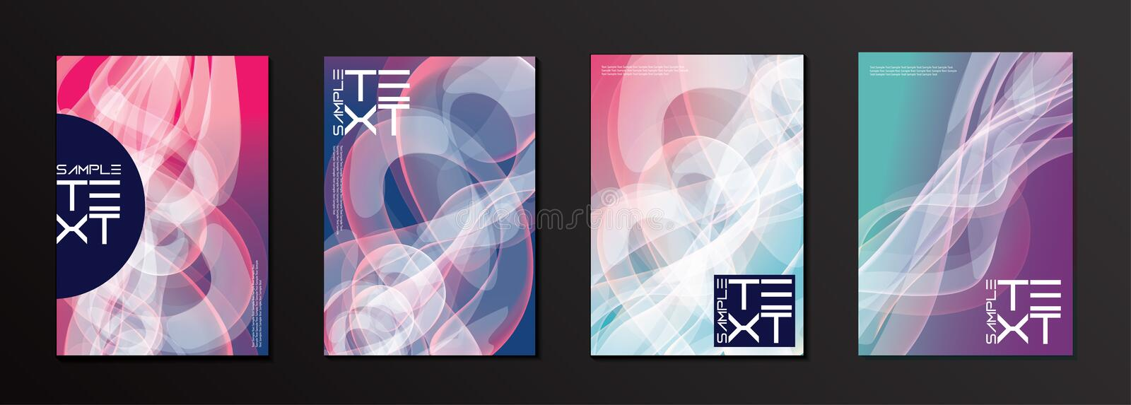 Vector Curvy Shape Cover Design Template vector illustration