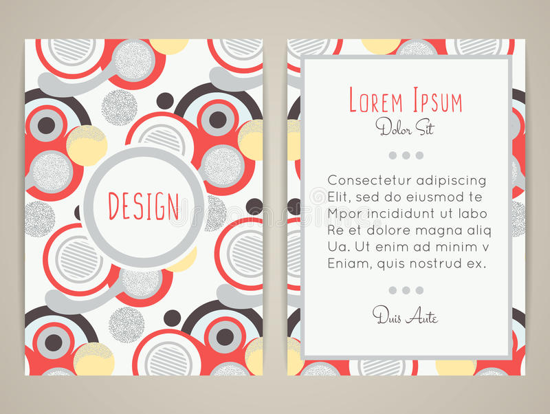 Cover design with abstract geometric pattern colorful round shapes colorful round shapes color flat circles retro style brochure invitation flyer card or book cover size a4 vector illustration eps10 stopboris Choice Image