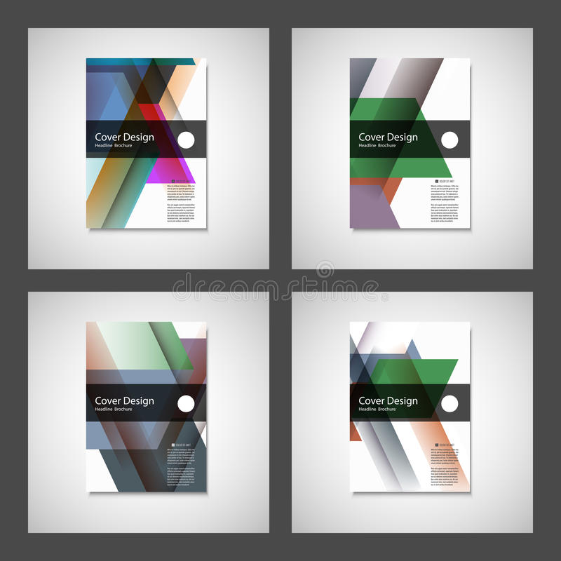 Cover design for Annual Report, Catalog or Magazine, Book or Brochure. Vector template with geometry elements.  stock illustration