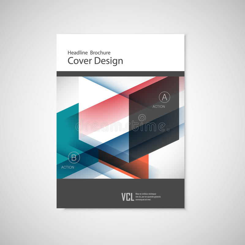 Cover design for Annual Report, Catalog or Magazine, Book or Brochure. Vector template with geometry elements.  royalty free illustration