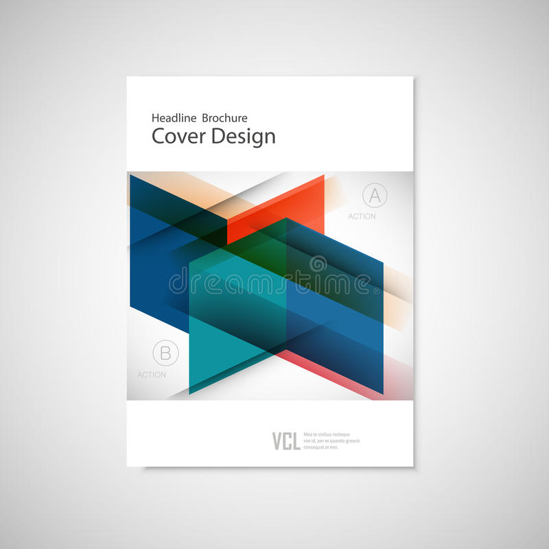 Cover design for Annual Report, Catalog or Magazine, Book or Brochure. Vector template with geometry elements.  vector illustration
