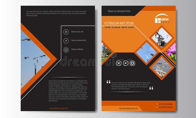 Cover design annual report, vector template of brochures, flyers stock illustration