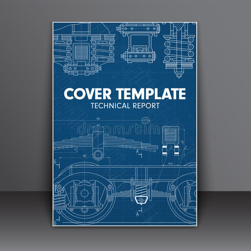 Cover Design Blue With In Technical Style For A Book Report Or O