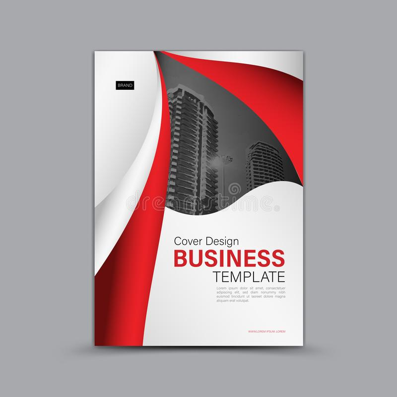 Cover design, Business brochure flyer template, banner, web page, book cover, advertisement, printing layout. White abstract background royalty free illustration
