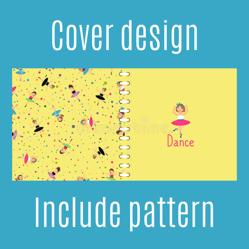 Cover design with dancing girls pattern royalty free illustration