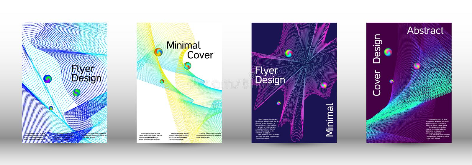 Cover design. Minimum coverage of a vector. Cover design. Set of modern abstract musical backgrounds. Sound flyer for creating a fashionable  cover, banner vector illustration