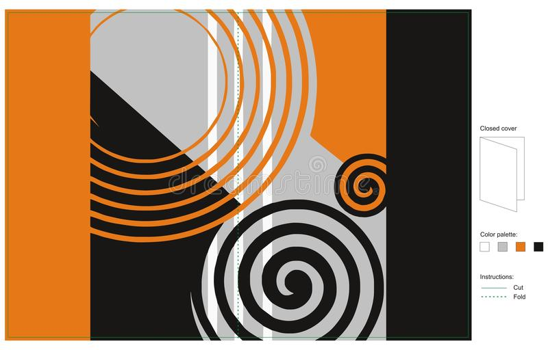 Cover design spiral pattern stock image