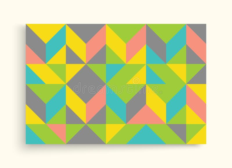 Cover design template for advertising. Abstract colorful geometric design. Pattern can be used as a template for brochure. stock illustration