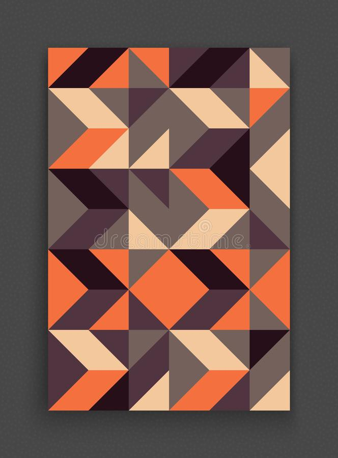 Cover design template for advertising. Abstract colorful geometric design. Pattern can be used as a template for brochure. royalty free illustration