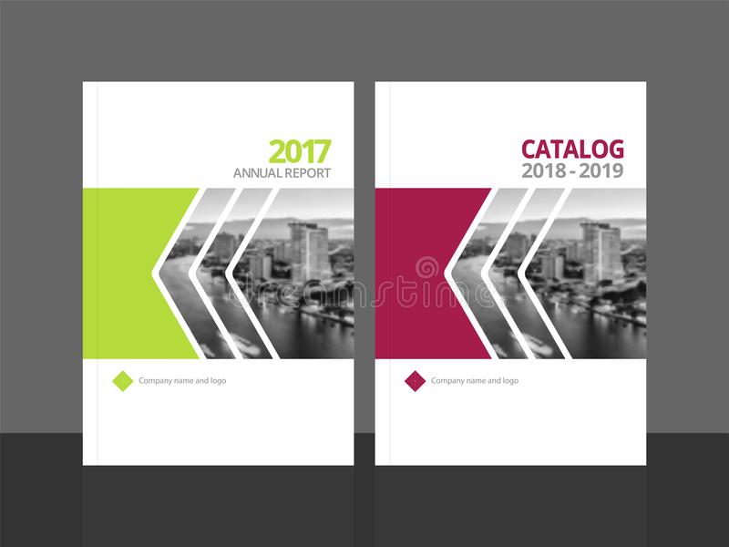 Cover design template annual report and catalog. Cover design for annual report and business catalog, magazine, flyer or booklet. Brochure template layout. A4 stock illustration