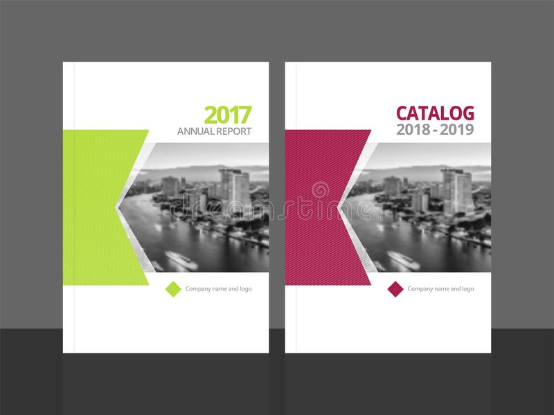 Cover design template annual report and catalog. Cover design for annual report and business catalog, magazine, flyer or booklet. Brochure template layout. A4 royalty free illustration