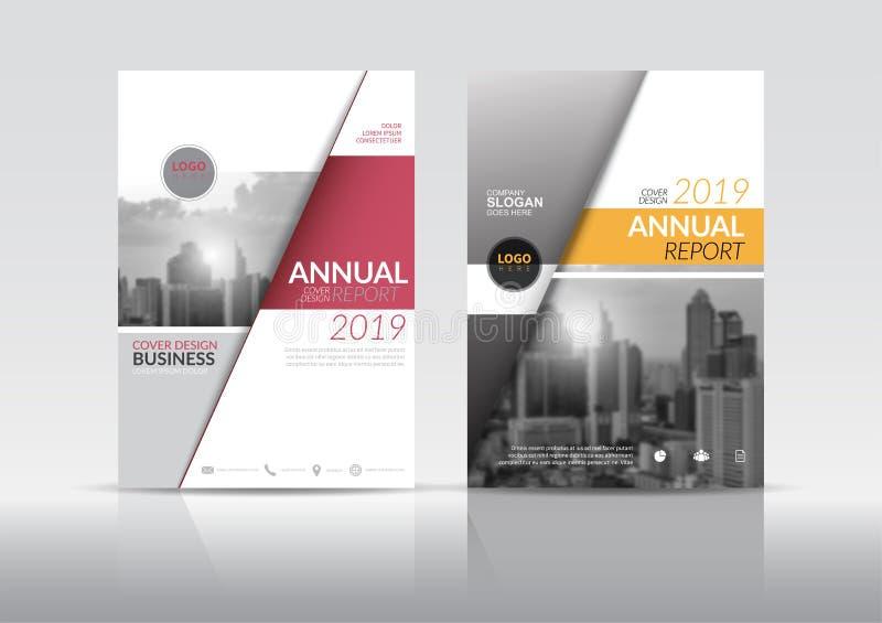 Annual report cover brochure flyer design template. stock illustration
