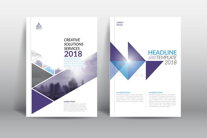 Annual report cover brochure flyer design template. vector illustration