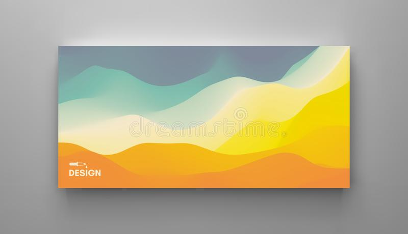 Cover design template with color gradients. Abstract background. Modern pattern. 3d vector Illustration for advertising, marketing. Presentation stock illustration