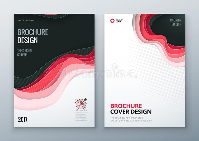 Cover design template. Paper carve abstract cover for brochure flyer magazine report or catalog design business cover vector illustration