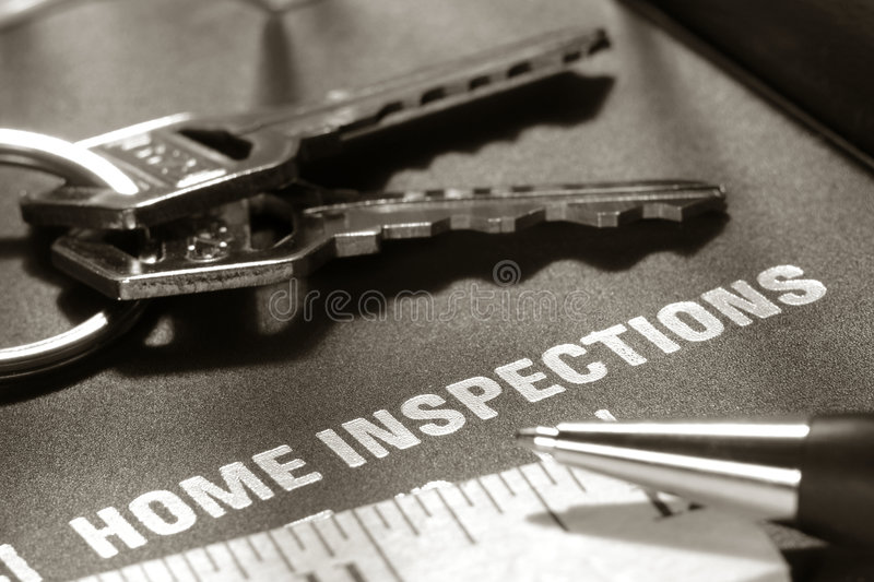 cover estate home inspection real report 库存照片