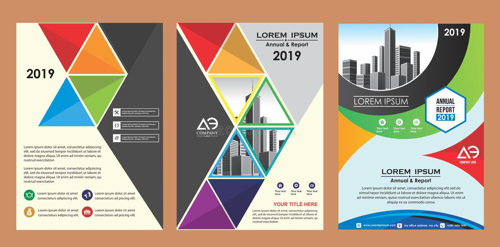 Cover, layout, brochure, magazine, catalog, flyer for company or report vector illustration