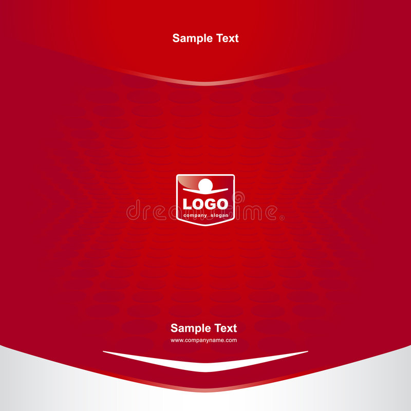 Cover with logo vector illustration