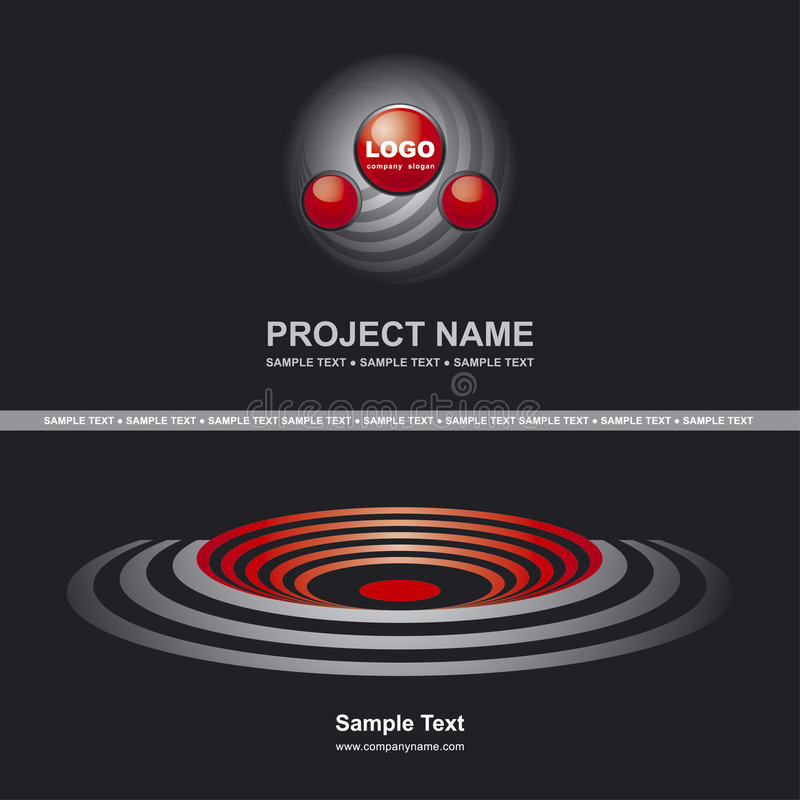 Cover with logo. Corporate Vector Business Template Background with Logo royalty free illustration