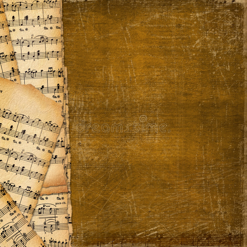 Cover For  Music Book On The Abstract Background Stock Image