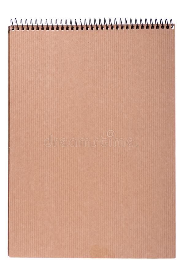 Cover of a notepad of kraft paper royalty free stock photography