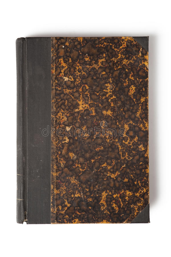 Cover of old book. On white background stock photo