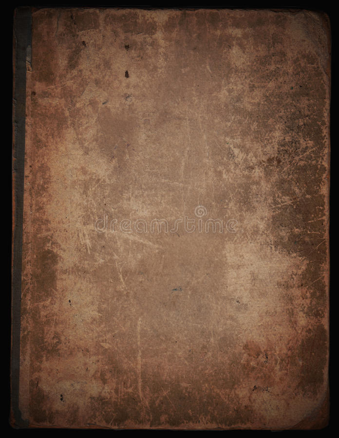 Cover old book. Old paper background, isolated on black background vector illustration
