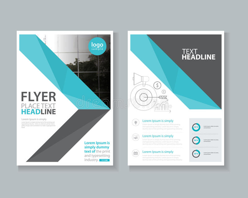 Cover Page Brochure Flyer Report Layout Design Template Stock