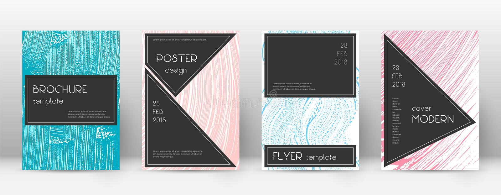 Cover page design template. Black brochure layout. vector illustration