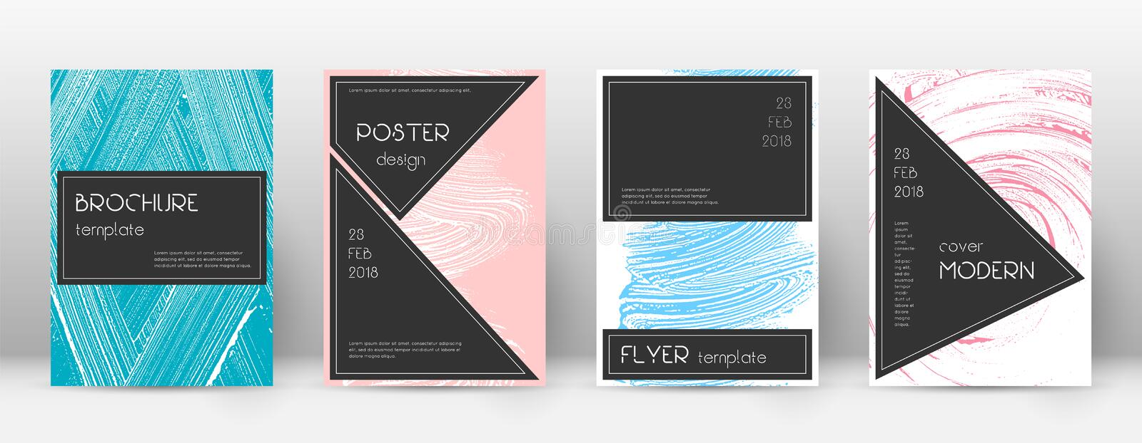 Cover page design template. Black brochure layout. royalty free illustration