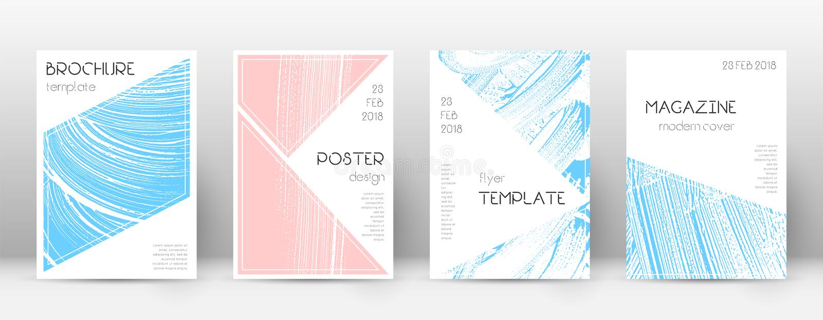 Cover page design template. stock illustration