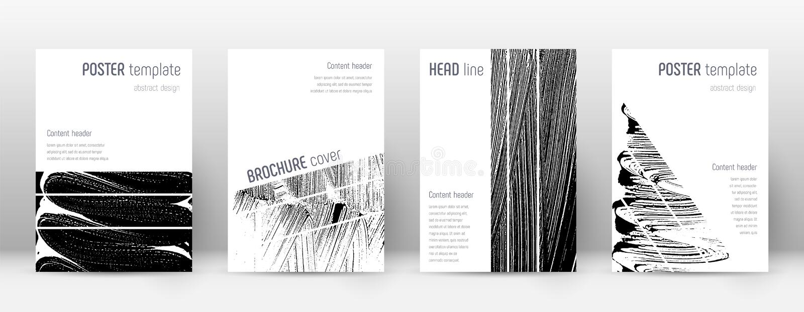 Cover page design template. Geometric brochure lay royalty free illustration