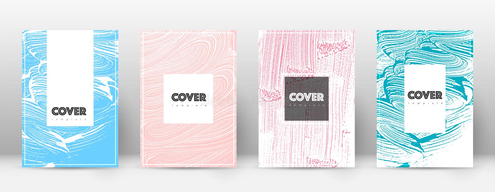 Cover page design template. Hipster brochure layou royalty free illustration