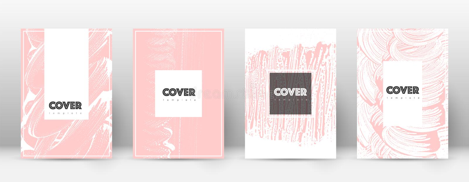 Cover page design template. Hipster brochure layou stock illustration
