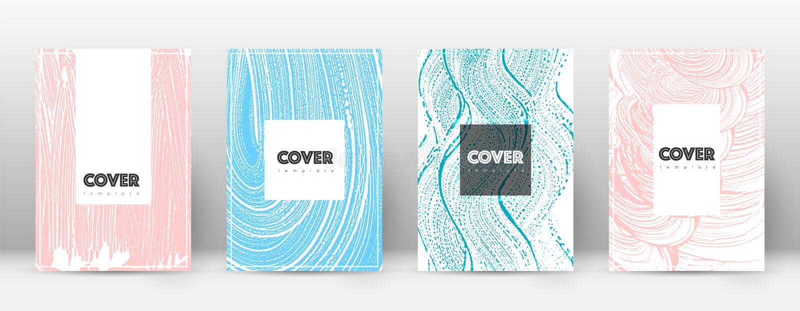 Cover page design template. Hipster brochure layout. Captivating trendy abstract cover page. Pink an vector illustration