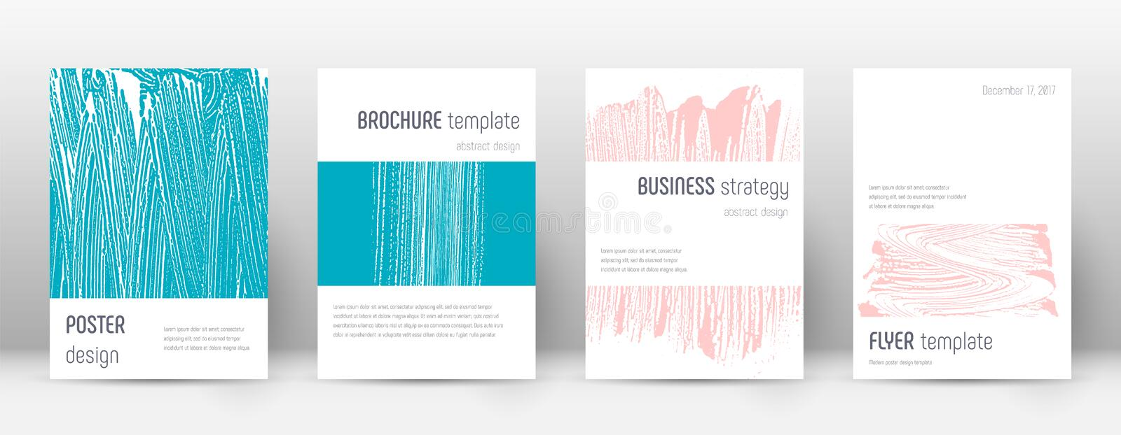 Cover page design template. Minimalistic brochure. Layout. Classic trendy abstract cover page. Pink and blue grunge texture background. Sublime poster vector illustration